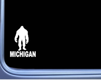 "Bigfoot Michigan State Sticker M168 6"" vinyl decal sasquatch squatch"