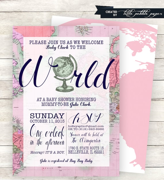 Pink welcome to the world baby shower invitation printable filmwisefo