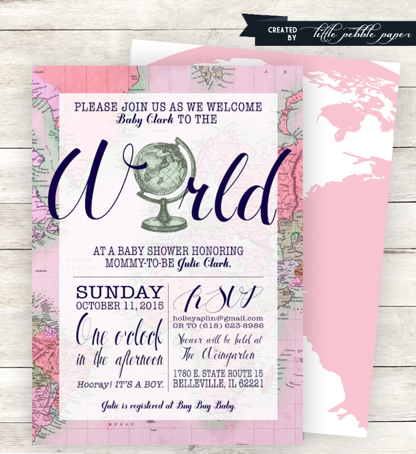 Pink welcome to the world baby shower invitation printable zoom filmwisefo
