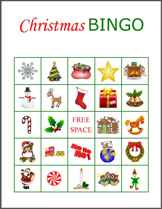 Gutsy image intended for christmas bingo free printable