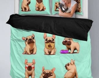 French bulldog Bedding Set