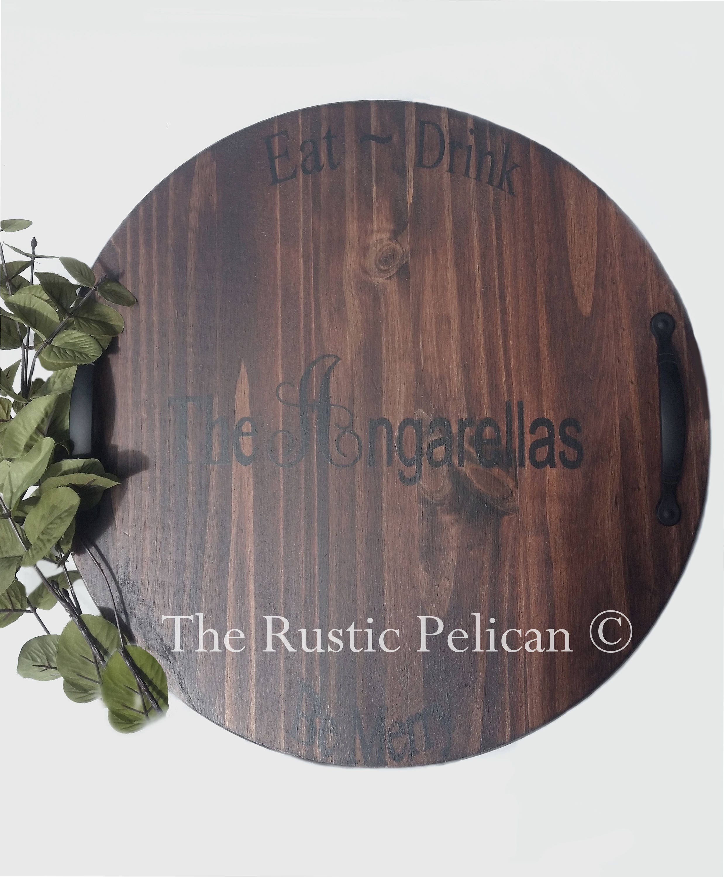 Personalized Mothers Day Gift Wine Barrel Lazy Susan