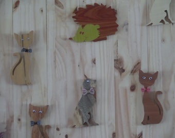 animal wall wooden panel