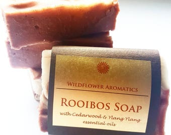 Rooibos soap with Cedarwood & Ylang Ylang essential oils, handmade soap, aromatherapy soap, bath soap,