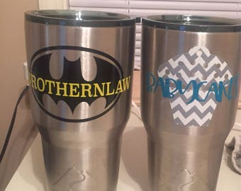 Vinyl stickers for cups / glasses / wine glasses / drinkware / mason jars