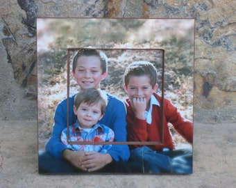 """Unique Christmas Gift, Personalized Picture Frame, Unique Custom Picture Frame, Baby's First Year, Family Picture Frame, 6""""x6"""" Frame"""