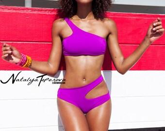 Fuchsia Edgy Bikini