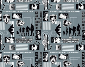 Guardians of the Galaxy by Camelot - Silhouettes in Lead - Cotton Woven Fabric