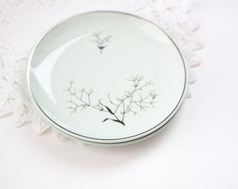 Small Dessert Plates Ballerina Mist Universal Oven Proof - Baby\u0027s Breath & Oven proof plates | Etsy