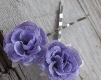 Bridal Hair Pins, Wedding Hairpins, purple Hair Pin, flower Bobby Pins, Hair Pin , hair pins wedding, flower hair pins, hair accessories