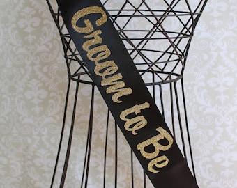 Semi-Cursive Groom to Be Wedding Sash