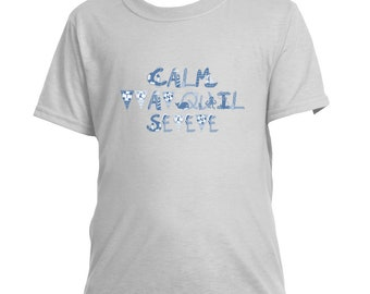 Calm Tranquil Serene Kids Crew Neck Tee