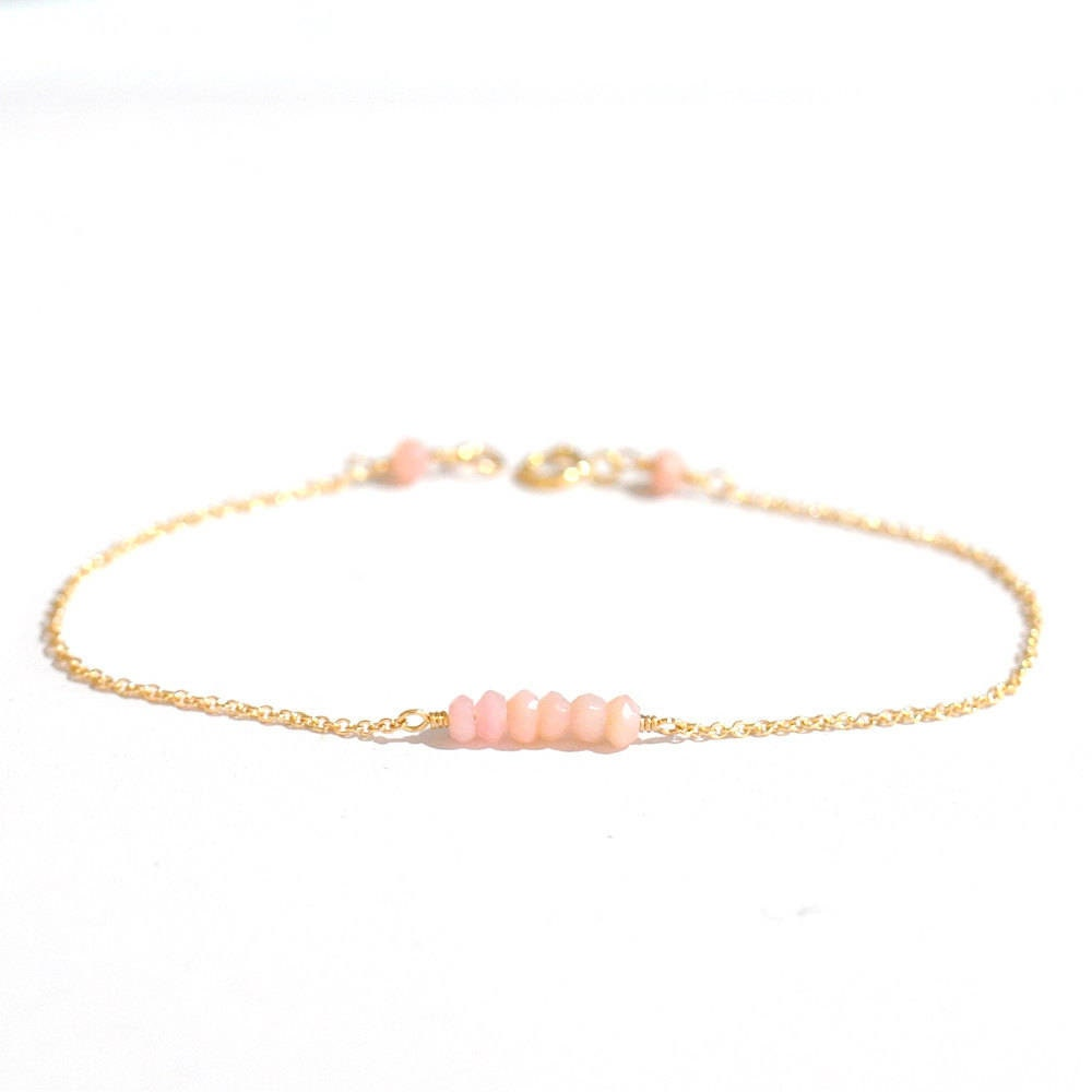 bracelet strand jewelry women opal item life energy yoga pink for fashion beads mala link stone chain of bracelets gift tree from natural in