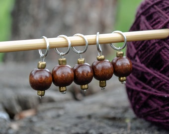 Dangle Bead Ring Stitch Marker - Fits up to 6.5mm/US 10.5 needles