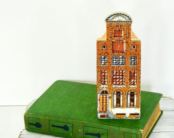 Decorative Victorian Holland Ceramic House- Hand Painted
