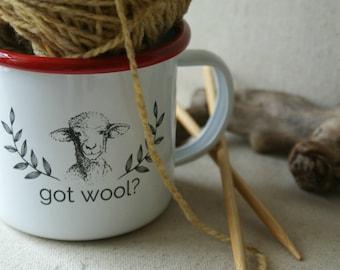 Got Wool Camp Cup Enamelware