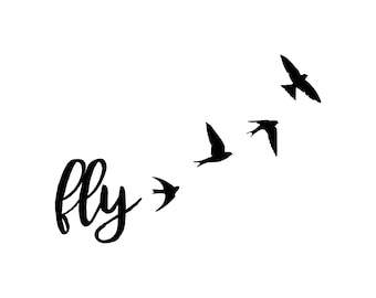 Fly with birds decal