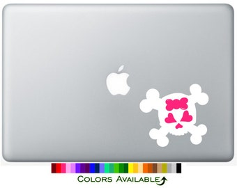 Girly Skull Laptop Decal