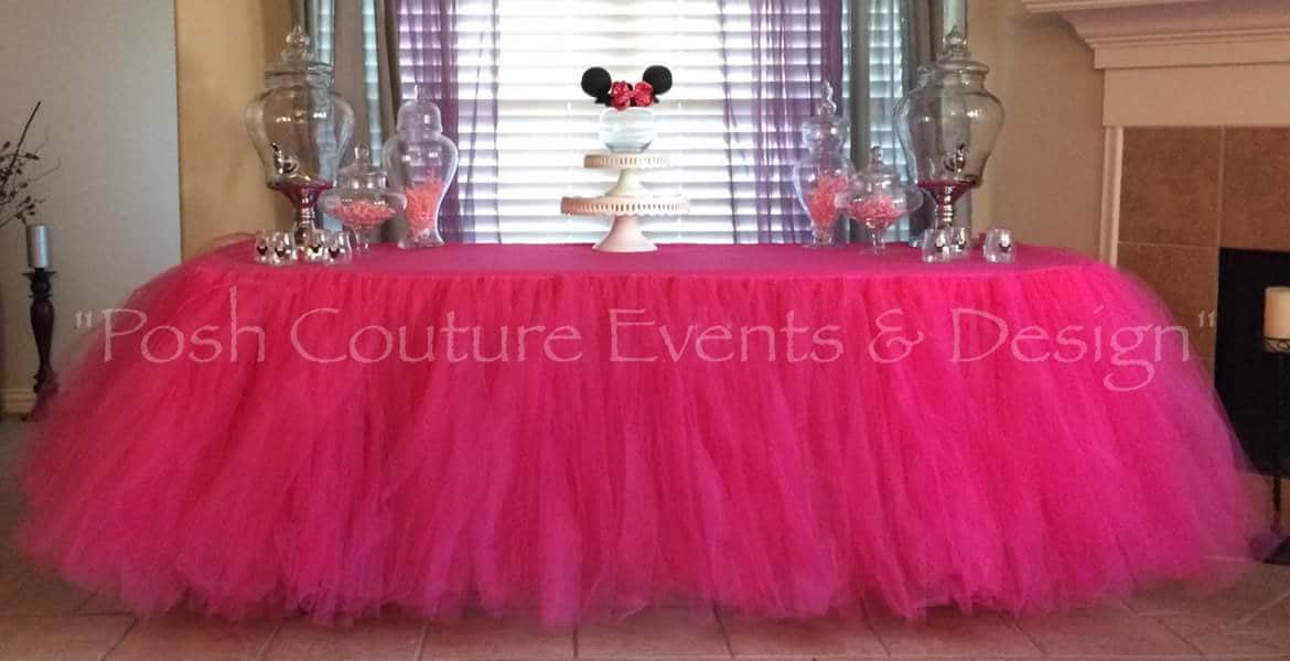 Tulle Table Cloth Elegant Skirt Party