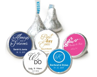 100 Personalised Wedding Hersheys Kisses