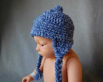 Earflap crochet hat