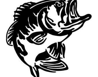 Bass Fish Car Decal