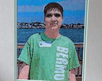 Hand made cross stitch pictures made from your own photographs.