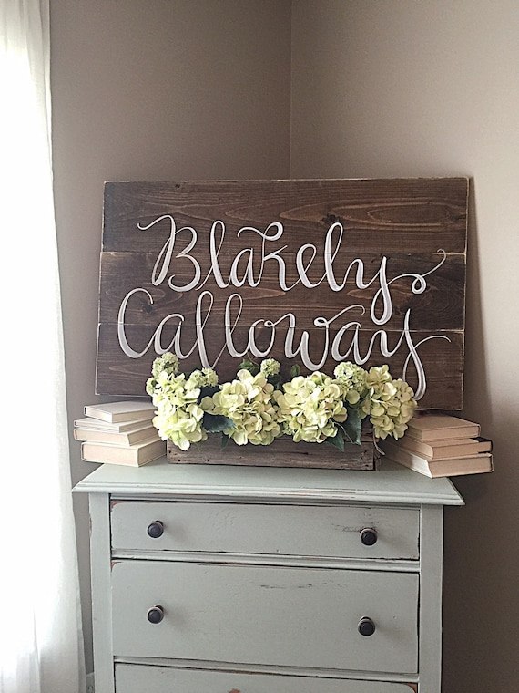 Nursery Decor Rustic Home Decor Wood Sign Personalized