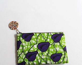 African purse-African coin purse-African Wax Print- Pouch Coin Bag-African bag- Kenyan bag- African print - Zipper purse