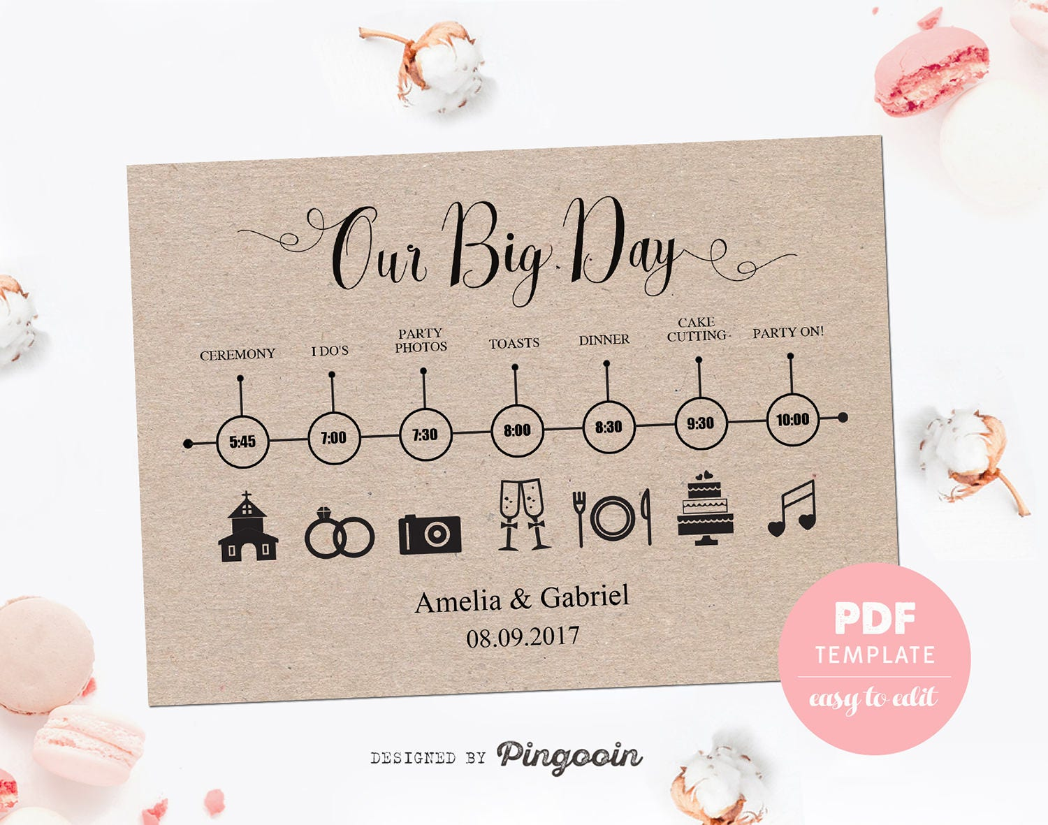 It's just a photo of Peaceful Printable Wedding Timeline