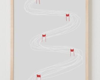 Fine Art Print.  Ski Race.  February 17, 2014.