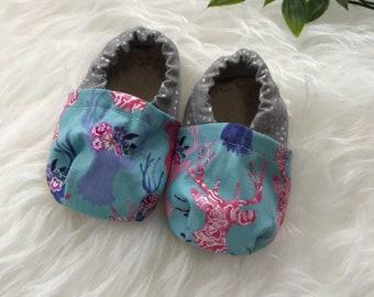 Deer baby shoes-baby booties