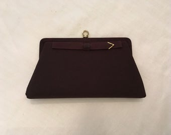 Ande Brown Fabric Evening Bag