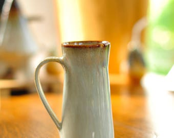 Artisan-Made Ceramic Mug by Sam Whited in Cream and Brown Earth Tones