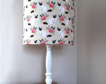 Birman cat print fabric lamp