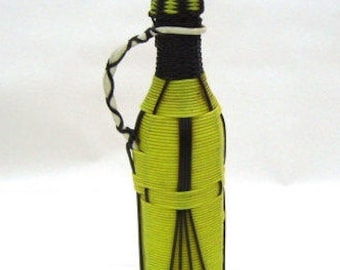 Retro plastic bottle with cap