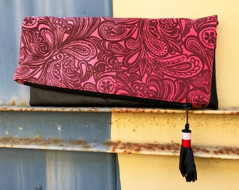 Large Fold Over Clutch - Vintage Ombre - STUDIO SAMPLE