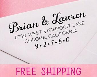Custom address stamp - return address stamp - self-inking address stamp - A01