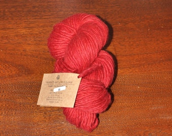 Manos del Uruguay Wool Clasica - 66 Poppy Red - Handspun Pure Wool Kettle Dyed