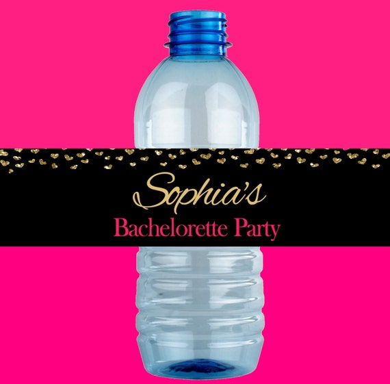 Bachelorette Party Water Bottle Labels Printable - Bachelorette water bottle label template