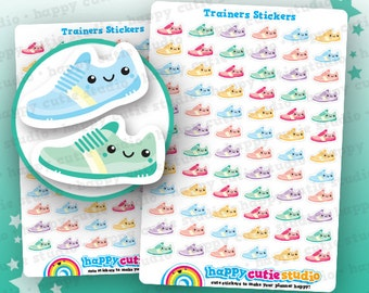 72 Cute Trainers/Sneakers/Pumps/Gym/Exercise/Work Out Planner Stickers, Filofax, Erin Condren, Happy Planner,  Kawaii, Cute Sticker, UK