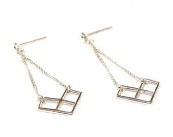 """Earrings 925 sterling silver geometric """"Cassandre"""""""