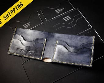Bifold wallet acrylic patterns + Video tutorial • Free shipping