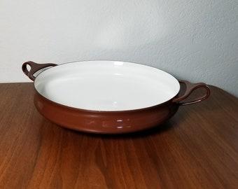 Dansk Kobenstyle Brown Enamel Paella Pan