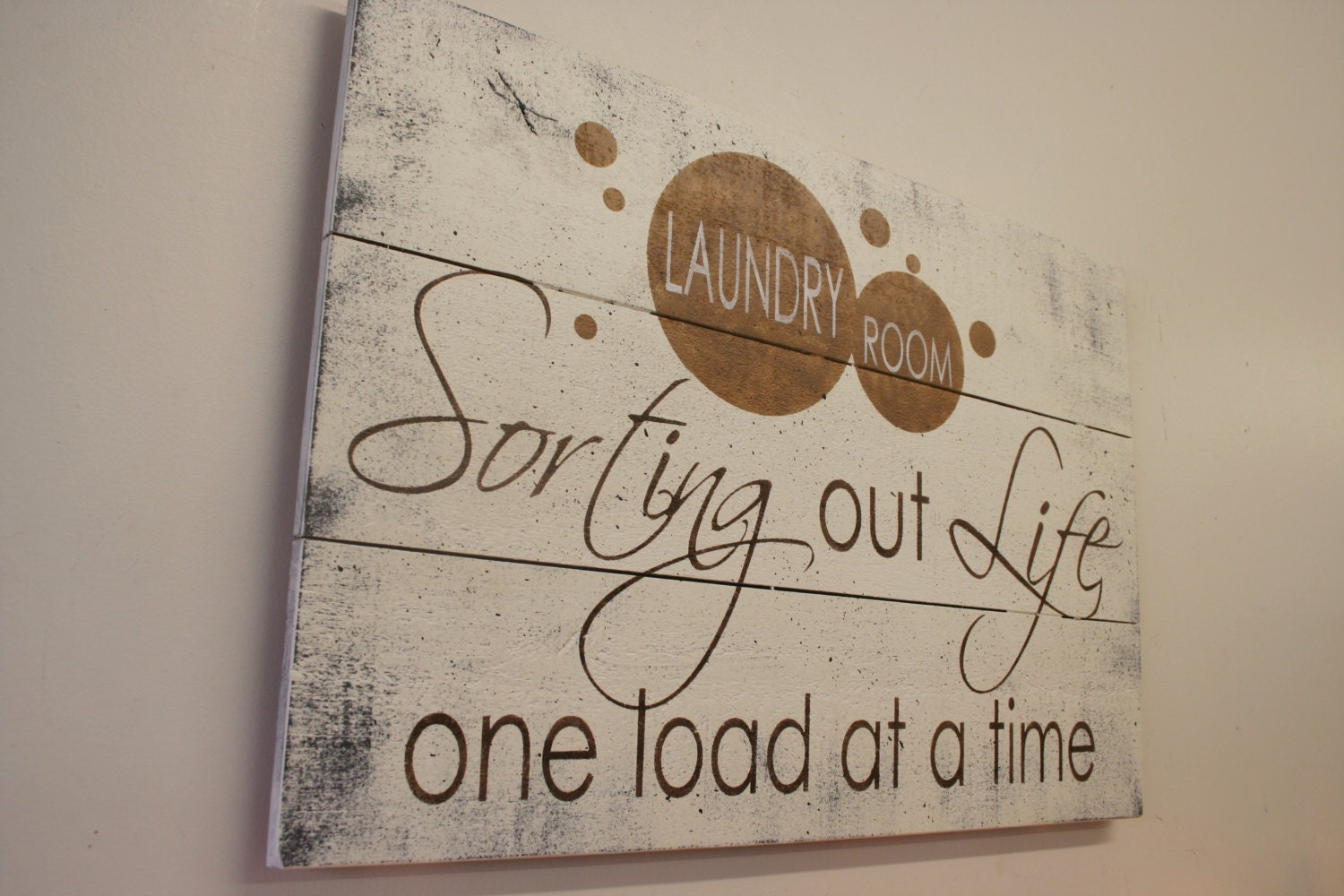 Wooden Laundry Sign Beauteous Sorting Out Life One Load At A Time Laundry Room Sign Wood Design Inspiration