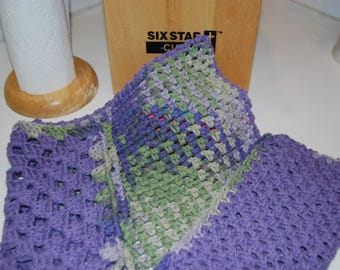 Crocheted Dish Clothes-Cotton Handmade Dish clothes