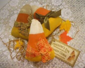 FALL, Halloween, Primitive, Candy Corn, Set of 3,