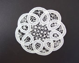 Battenburg Lace Doily, 6 Inch Handmade by Me Doily
