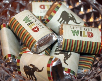 Safari Mini Candy Bar Wrappers, Zoo Candy Bar Wrappers, Jungle Candy Bar Wrappers, Safari Candy Bar Wrappers