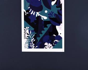 Botanical print - Graphic Poster - jungle illustration - A4